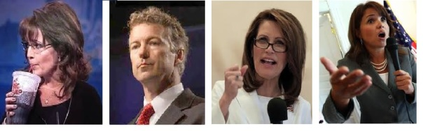 Palin, Paul. Bachmann and O'Donnell--all sadly un-electable according to the Obama Media...so we get Jeb?